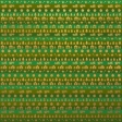 Paper - Christmas kilim in green and gold