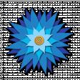 Flower - Blue fabric