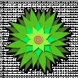 Flower - Green fabric