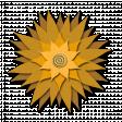 Flower - Brown fabric