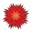Flower - Red fabric