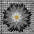 Flower - Gray fabric