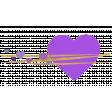 Heart – Happy Valentine in purple