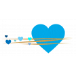 Heart – Happy Valentine in blue