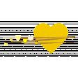 Heart – Happy Valentine in yellow