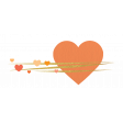 Heart – Happy Valentine in orange