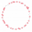 Frame – Circle with small transparent flowers