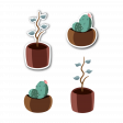 Simple plant stickers