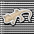 Lizard 1 - Petrii Gecko (Sticker + shadow)