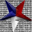 Patriotic Folded Star
