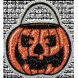 Glitter Pumpkin Bag