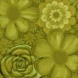 flower paper gold