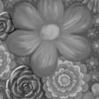 flower paper gray