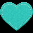 All About Hearts 2017: Felt Heart 01, Aqua