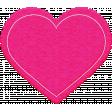 All About Hearts 2017: Felt Heart 01, Dark Pink
