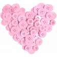 All About Hearts 2017: Button Heart 01, Pink