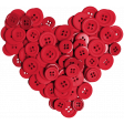 All About Hearts 2017: Button Heart 01, Red