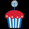 BYB 2016: Independence Day, Patriotic Cupcake 02