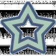 October 2020 Blog Train: Stonewashed Denim: Embroidered Star Outline 01a