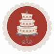 Rustic Wedding Sticker, Cake 01