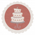 Rustic Wedding Vellum Sticker, Cake 01