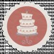 Rustic Wedding Vellum Sticker, Cake 01
