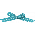 April 2021 Blog Train: Knotted Bow with Dots 01, Aqua