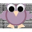 May 2021 Blog Train: Spring Flowers Owl 01 Purple