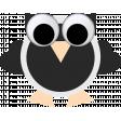 May 2021 Blog Train: Spring Flowers Owl 01 Black