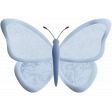 May 2021 Blog Train: Spring Flowers Butterfly 01 Blue