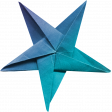 June 2021 Blog Train: Summertime Star, Folded Paper 07