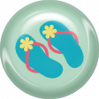 June 2021 Blog Train: Summertime Button 01d, Flipflops
