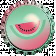June 2021 Blog Train: Summertime Bottlecap 01, Watermelon