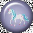 August 2021 Blog Train: Rainbow Unicorn Party Flair 01, Purple
