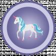 August 2021 Blog Train: Rainbow Unicorn Party Sticker 01, Purple
