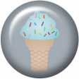 August 2021 Blog Train: Rainbow Unicorn Party Flair 01, Ice Cream Cone