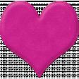 Puffy Felt Heart Pink