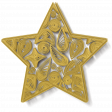 Quilled Star Yellow
