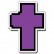 Pixels Stickers: Cross 1