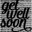 Get Well Soon Word Art