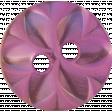 Wildflower Button Purple