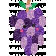 Cute Fruits Glitter Grape