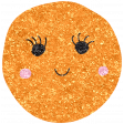 Cute Fruits Glitter Orange