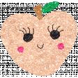 Cute Fruits Glitter Peach