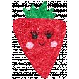 Cute Fruits Glitter Strawberry