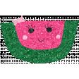 Cute Fruits Glitter Watermelon
