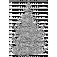 Vintage Xmas Glitter Tree