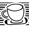 Spring Day Print Kit - Tea Cup Sticker