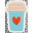 Unicorn Tea Party Element - Rubber Tea Cup 2b