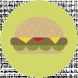 Food Day Collab BBQ circle hamburger